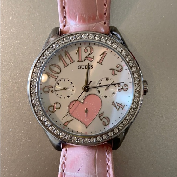 GUESS WATCH - genuine leather